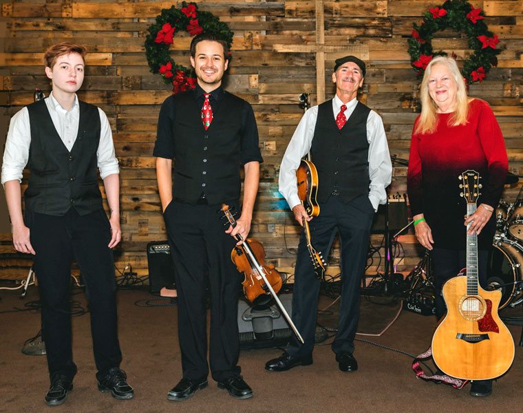 left to right sebastian valley matt miller don pigeon marcille wallis christmas with the celts - Christmas With The Celts